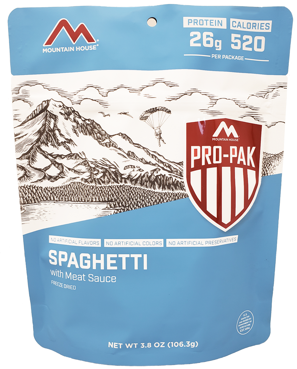 MILITARY Mountain House Spaghetti with Meat Sauce Pro-Pak Pouch