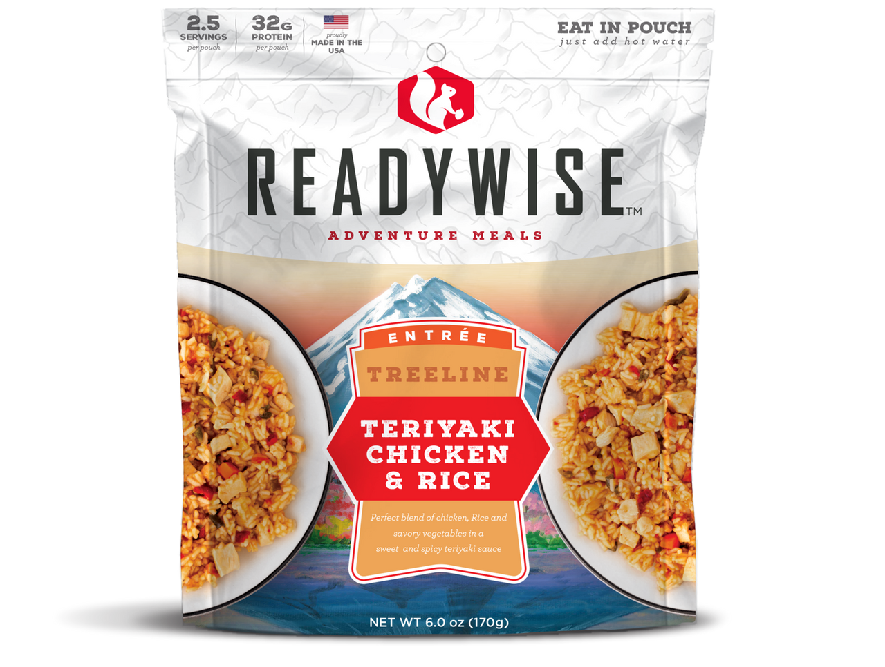 Wise Teriyaki Chicken and Rice - 2 Serving Outdoor Pouch