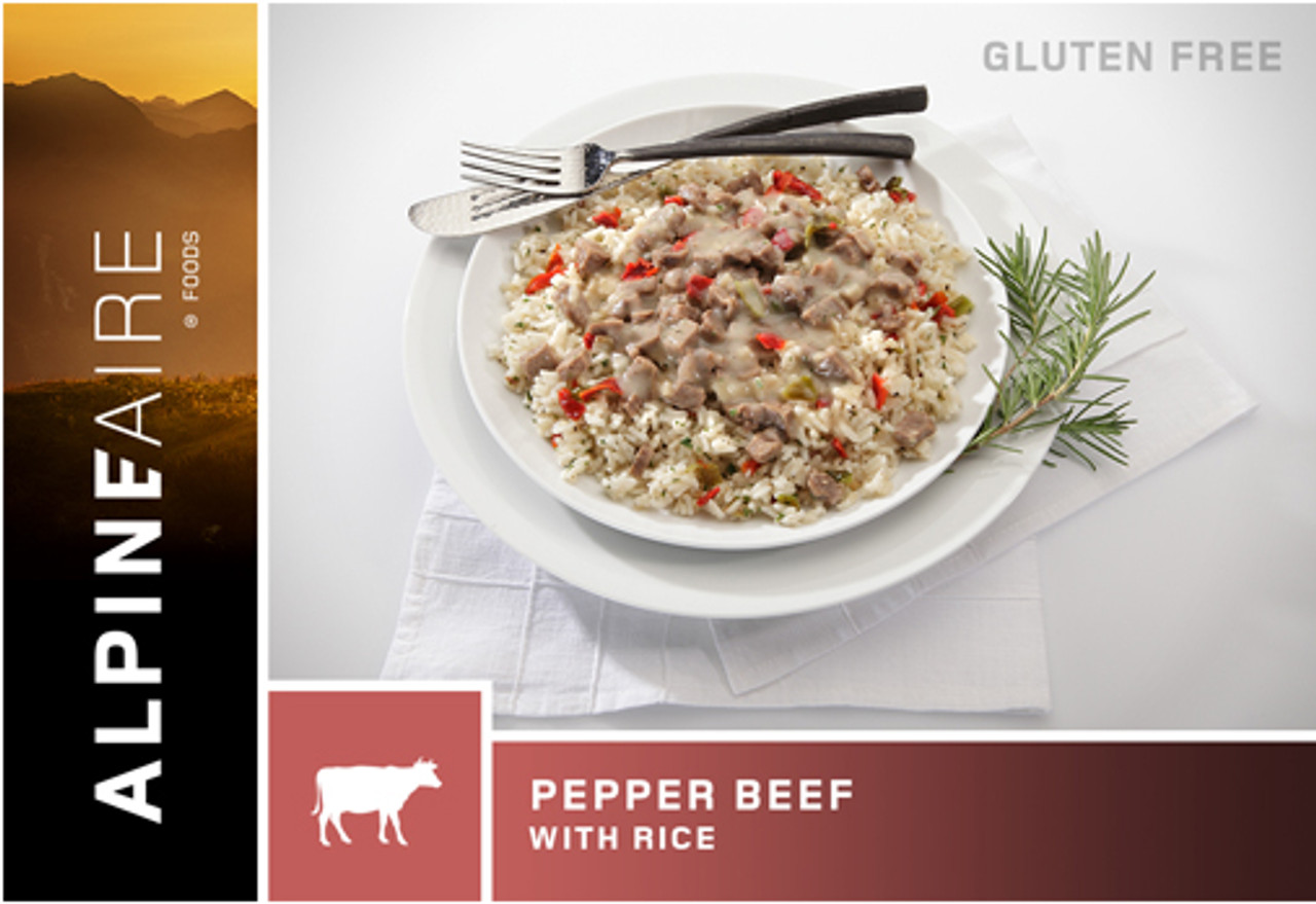 AlpineAire Pepper Beef with Rice Pouch