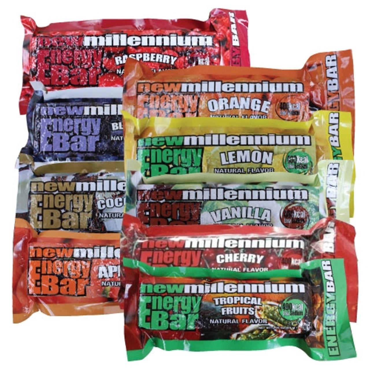 Millennium Energy Bar Variety Pak - 125 Count