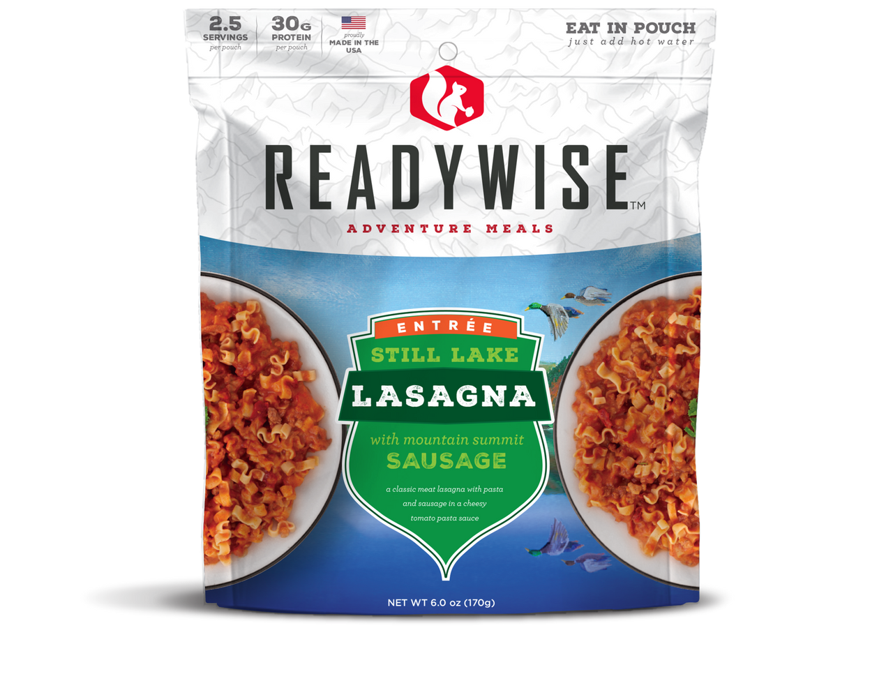 Wise Still Lake Lasagna with Sausage - 2 Serving Outdoor Pouch