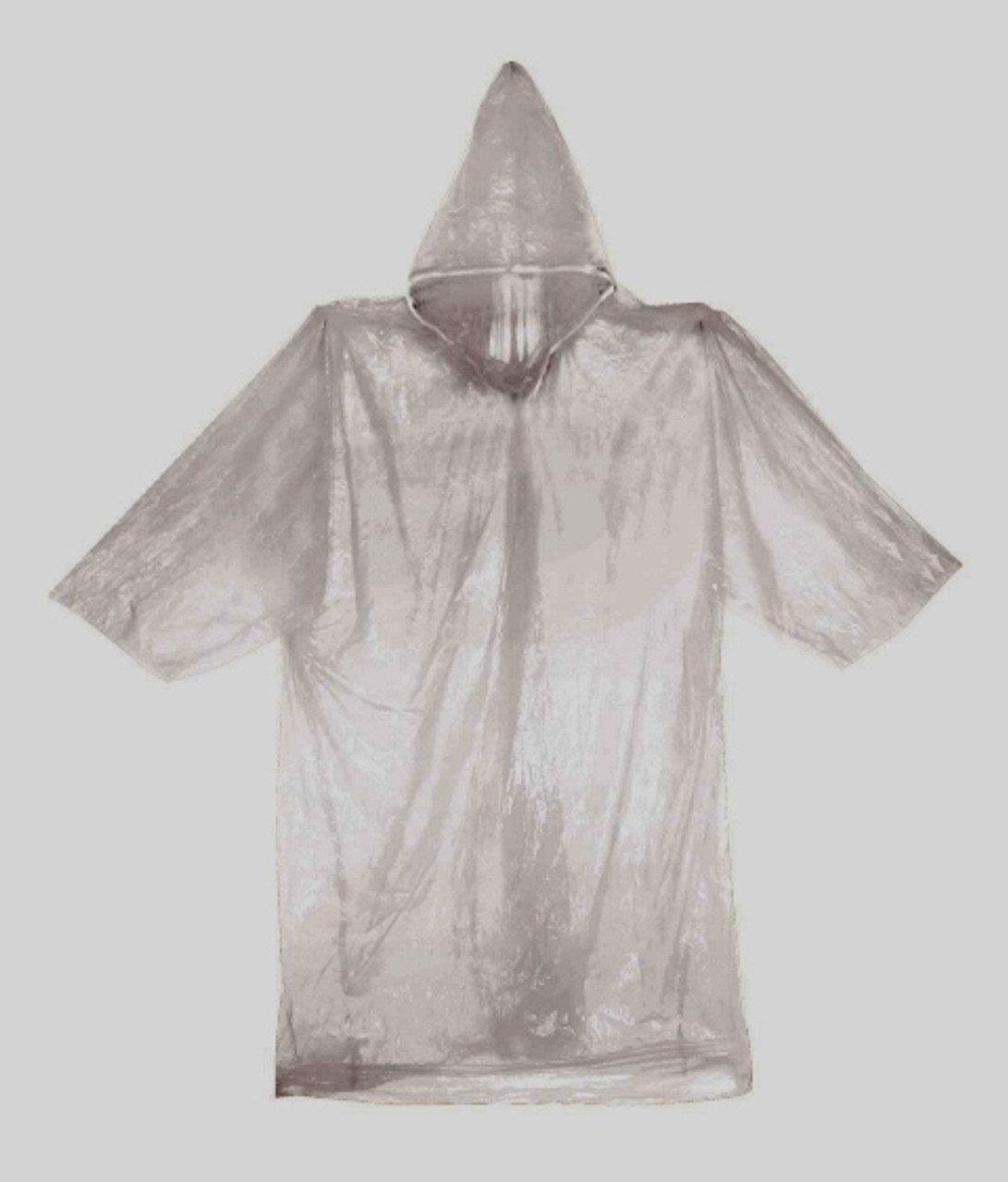 Emergency Poncho w/ Drawstring Hood - Clear