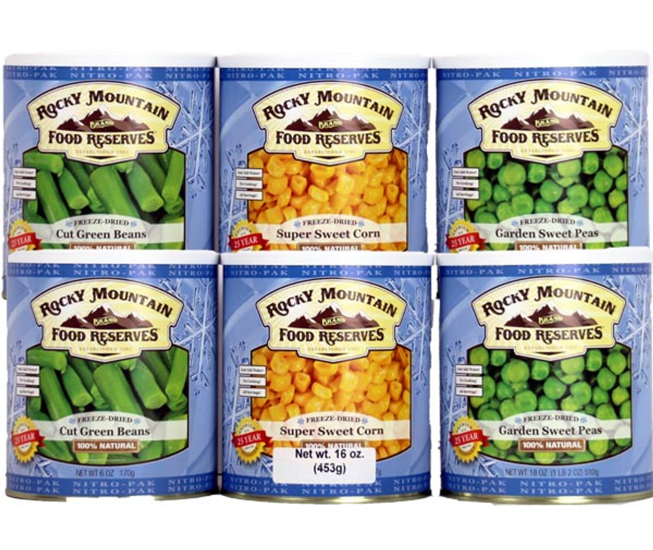 Rocky Mountain Freeze Dried Vegetable Variety Pak