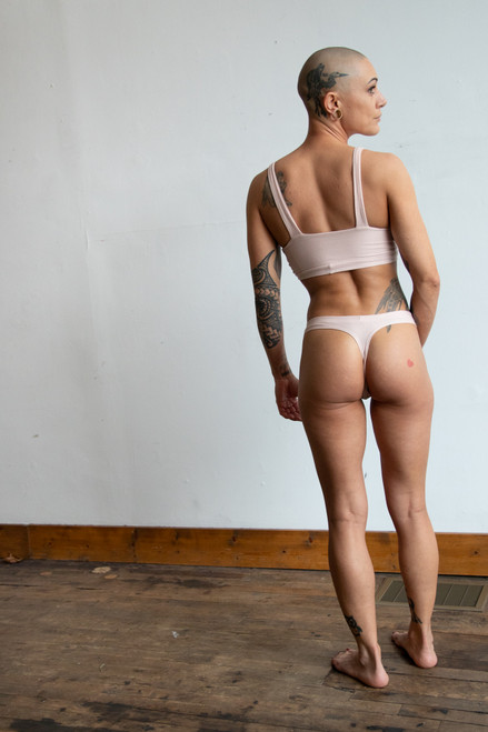 Thong from behind