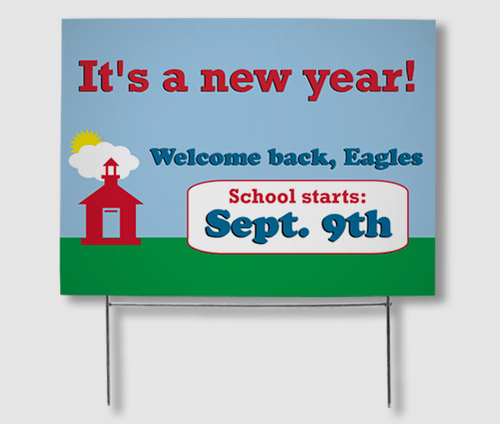 Back to School Yard Signs