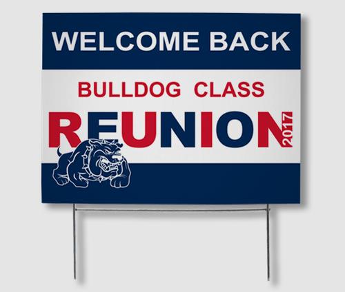 Reunion Yard Signs