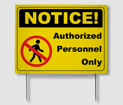 Safety Yard Signs