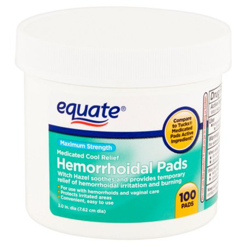 Equate Hemorrhoidal Pads, 100 count