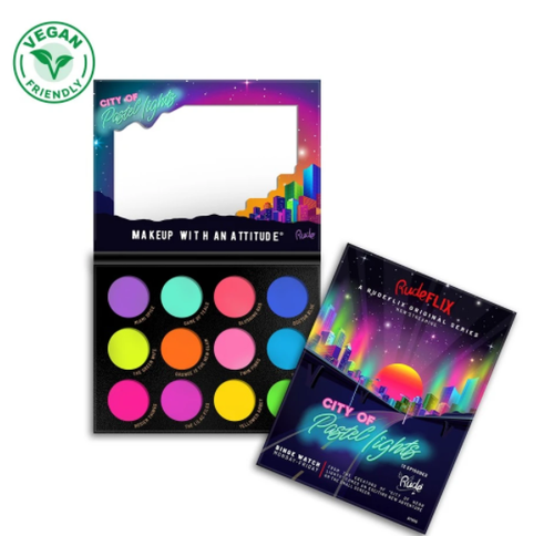 City of Pastel Lights-12 Pastel Pigment & Eyeshadow Palette