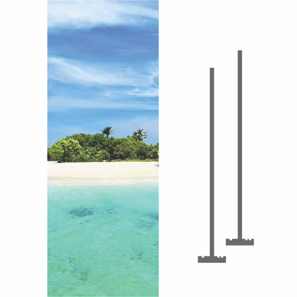 3' x 8' Custom Lamppost Banner Kit