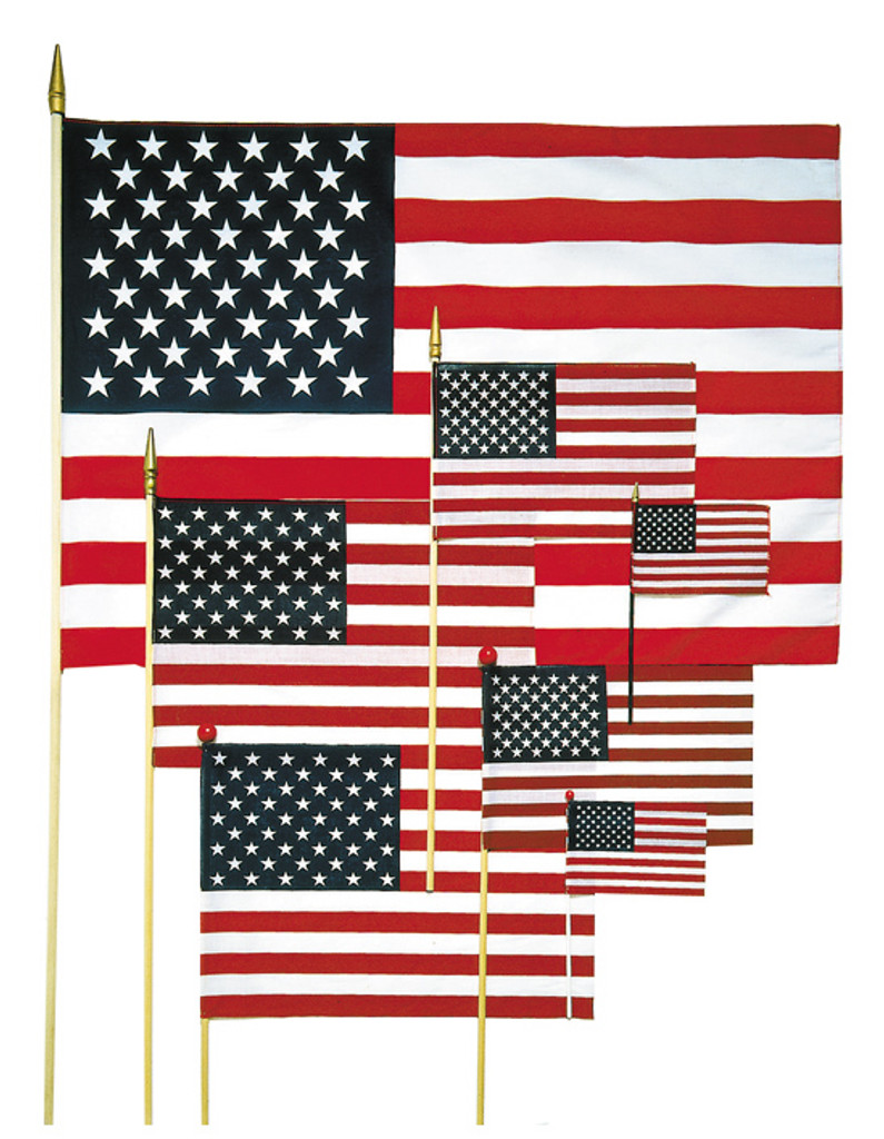 "4"" x 6"" Handheld US Flags"