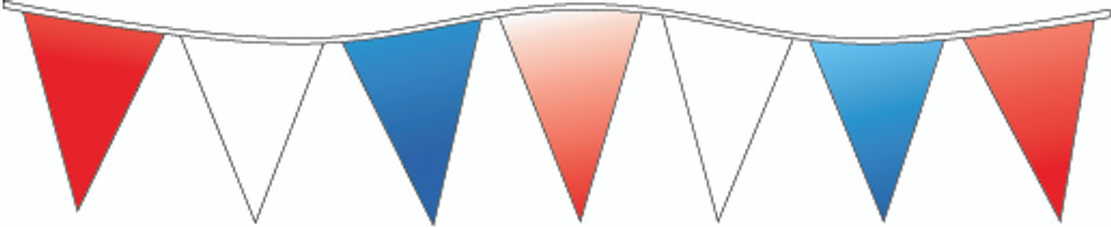 Red, White & Blue Pennants