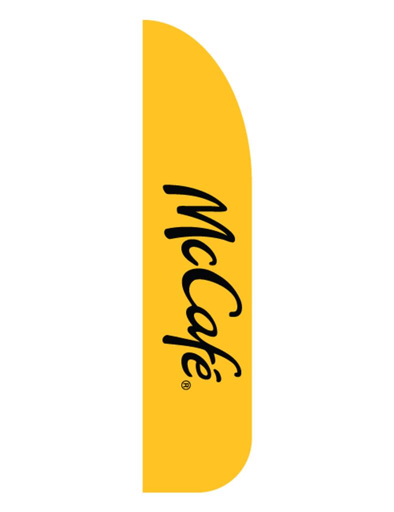 """McDonald's 3'x13' Feather Dancer Flag """"McCafe'"""" Yellow"""