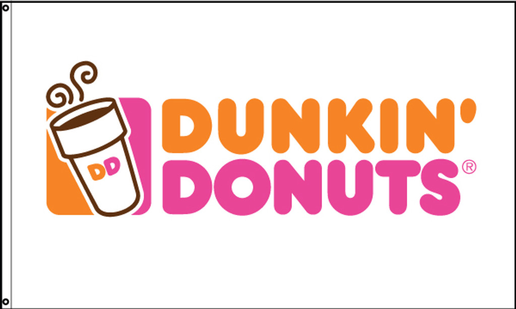 Dunkin' Donuts Flag White