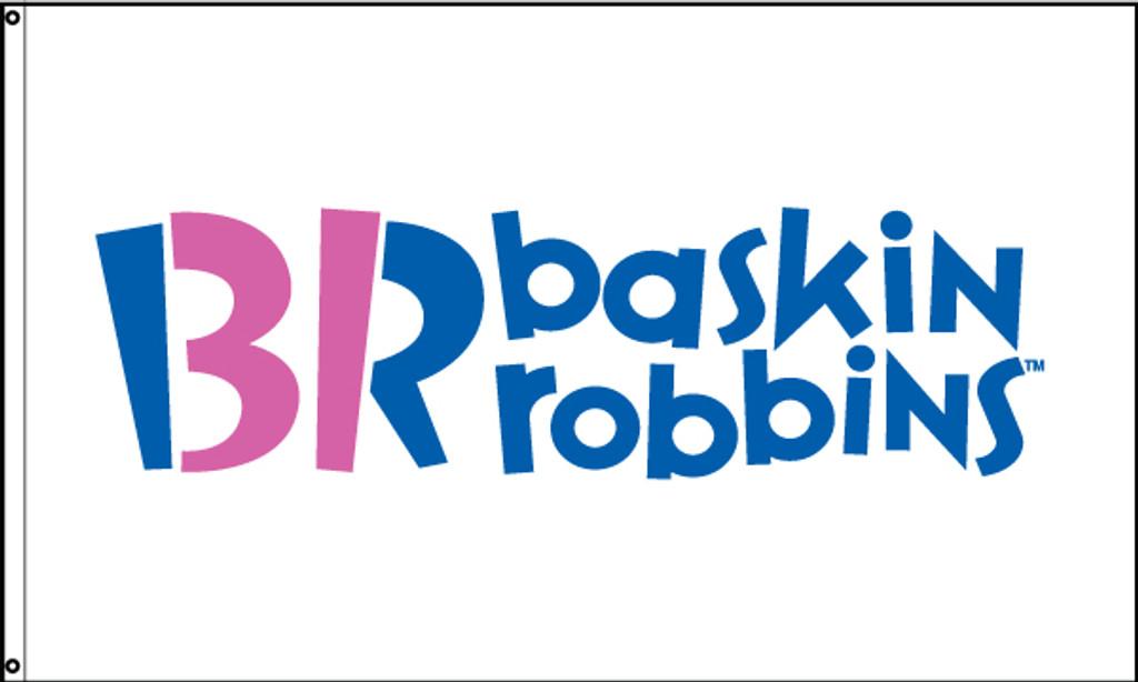 Baskin Robbins Flag White