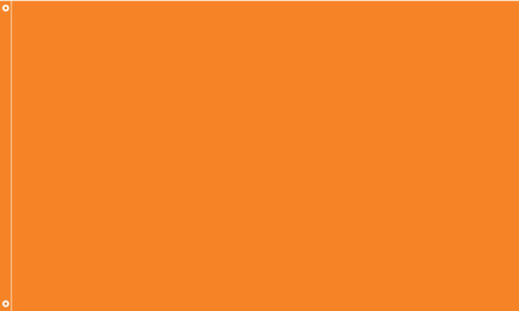 Dunkin' Attention Flag Orange