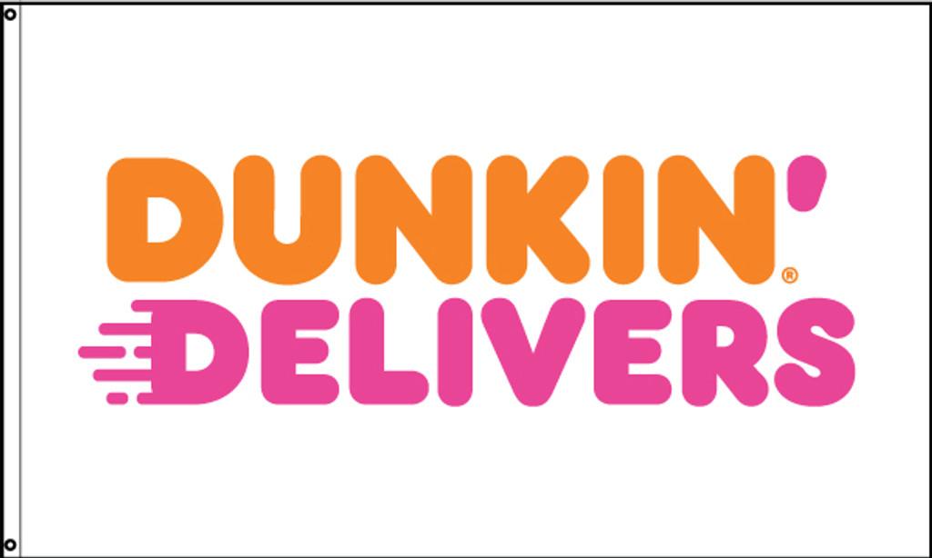 Dunkin' Delivers Flag
