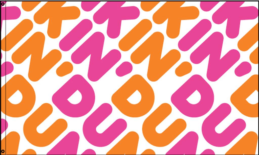 "Dunkin' ""Pattern"" Flag"
