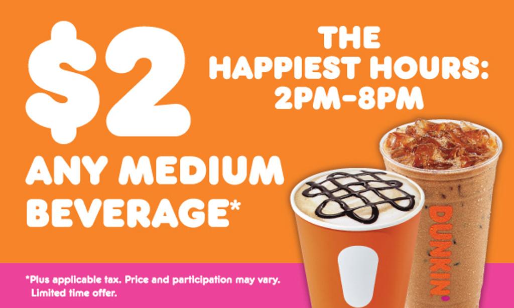 "Dunkin' 3'x5' ""Happiest Hours"" Banner"