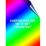 3' x 4' Mounted Custom Full Color Poster