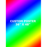 3' x 4' Custom Full Color Poster