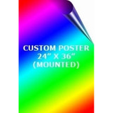 2' x 3' Mounted Custom Full Color Poster