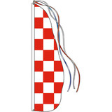 Style A - Red Check Feather Dancer Flag