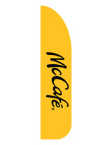 "McDonald's 3'x13' Feather Dancer Flag ""McCafe'"" Yellow"