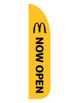 "McDonald's 3'x3' Feather Dancer Flag ""Now Open"" Yellow"