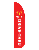 "McDonald's 3'x13' Feather Dancer Flag ""Drive Thru"" Red"