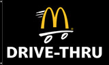 "McDonald's Flag ""Drive-Thru"" Black"