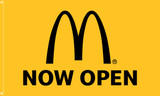 "McDonald's Flag ""Now Open"" Yellow"