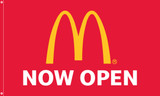 """McDonald's Flag """"Now Open"""" Red"""