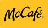"""McDonald's Flag """"McCafe'"""" Yellow"""