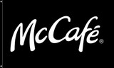 "McDonald's Flag ""McCafe'"" Black"
