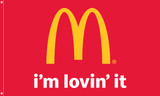 "McDonald's Flag "" i'm lovin' it"""