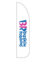Baskin Robbins 3'x13' Feather Dancer Flag 2 White