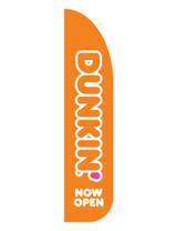 "Dunkin' 3'x13' Feather Dancer Flag Logo ""Now Open "" Orange"