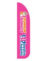 Dunkin' Donuts & Baskin Robbins 3'x13' Feather Dancer Flag Pink