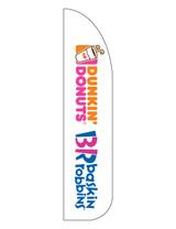 Dunkin' Donuts & Baskin Robbins 3'x13' Feather Dancer Flag White
