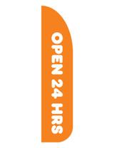 "Dunkin' 3'x13' Feather Dancer Flag ""Open 24 Hrs"" Orange"
