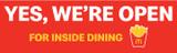"""McDonald's 3'x10' """"We're Open"""" Banner"""