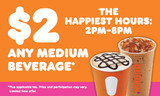 "Dunkin' 3'x5' ""Happiest Hours"" Banner"