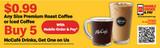 "McDonald's 3'x10' ""$0.99 Coffee"" Banner"