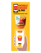 """McDonald's 3'x8' Lamppost Banner """"Mobile Meal Sprite"""""""