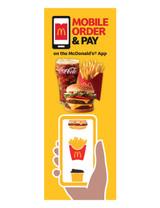 "McDonald's 3'x8' Lamppost Banner ""Mobile Meal Coke"""