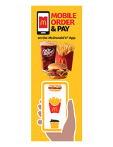 """McDonald's 3'x8' Lamppost Banner """"Mobile Meal Dr Pepper"""""""