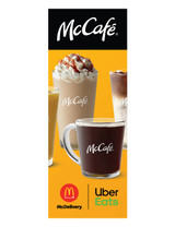 """McDonald's 3'x8' Lamppost Banner """"McCafe McDelivery"""" 1"""