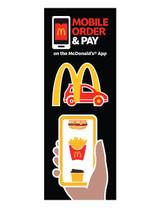 "McDonald's 3'x8' Lamppost Banner ""Mobile Drive-Thru"""