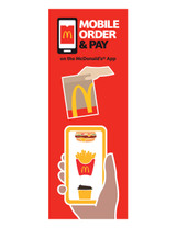 """McDonald's 3'x8' Lamppost Banner """"Mobile Curbside"""""""
